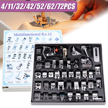 4/11/32/42/52/62/72 PCS Domestic Sewing Machine Presser Foot Kit Overlock Presser Foot for Brother Singer Sewing Machine Parts