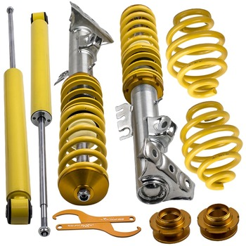 Adj. Height Lowering Suspension Coilover Coilovers For BMW E36 Cabrio Coupe Coilovers Yellow for 318i 318is 318ic 323i Saloon image