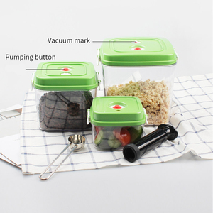 Image 4 - ABS Large capacity Empty Container For Storing Food Square Plastic Container With Pump 500ML + 1400ML + 3000ML