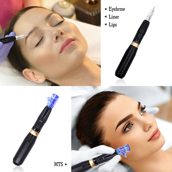 BMX PMU Tattoo Machine Pen Dermograph Quiet Motor Pen Permanent Makeup Machine Dermógrafo Agulhas Easy Click for Eyebrow 4