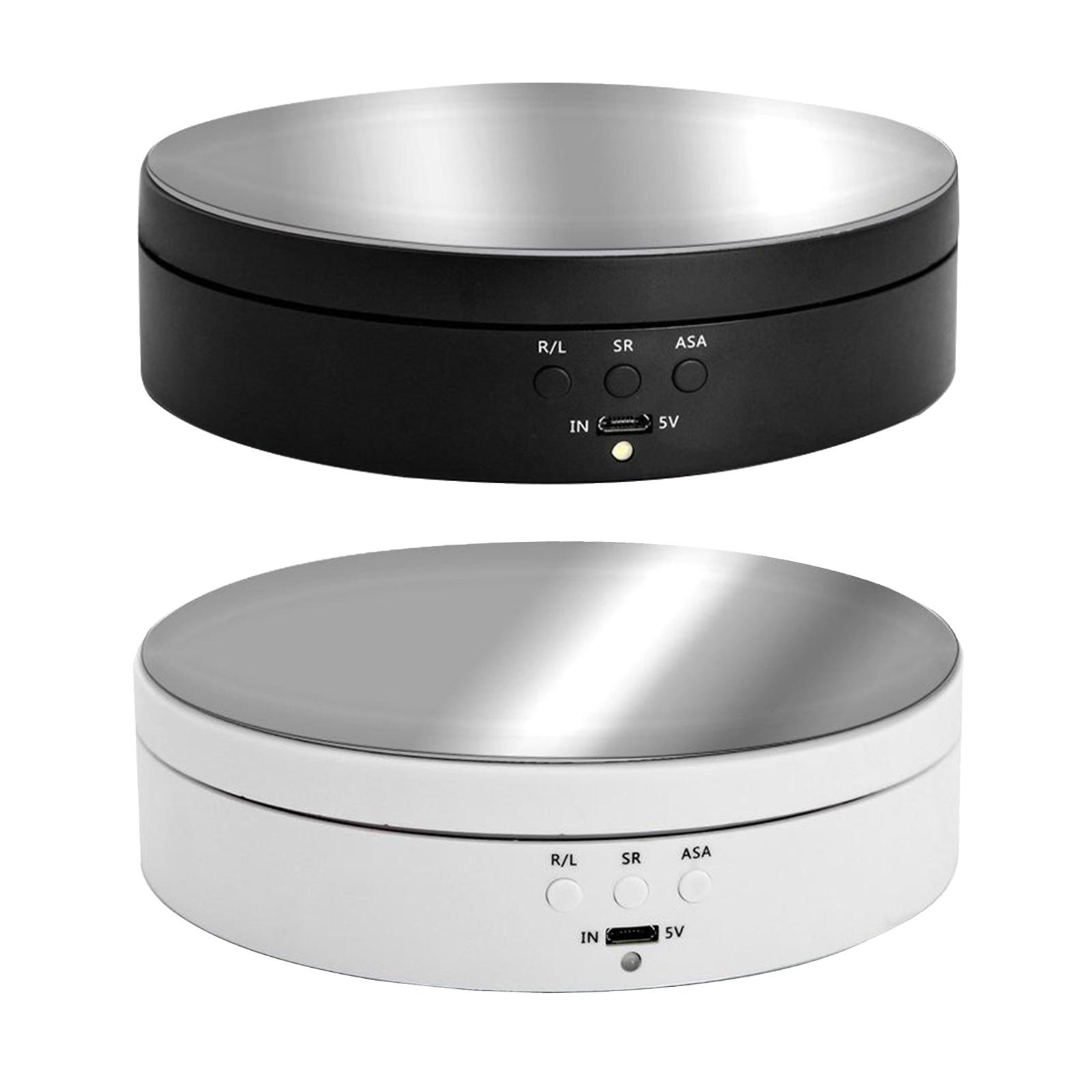 1pc Rotierenden Display-ständer Spiegel Oberfläche für Schmuck Batterie/USB Powered