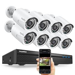 SANNCE N48PBE 5MP System 8ch PoE NVR System CCTV Security 4/6/8 Pcs Bullet Outdoor 1080P IP Cameras Surveillance Kit Built-in 2TB HDD