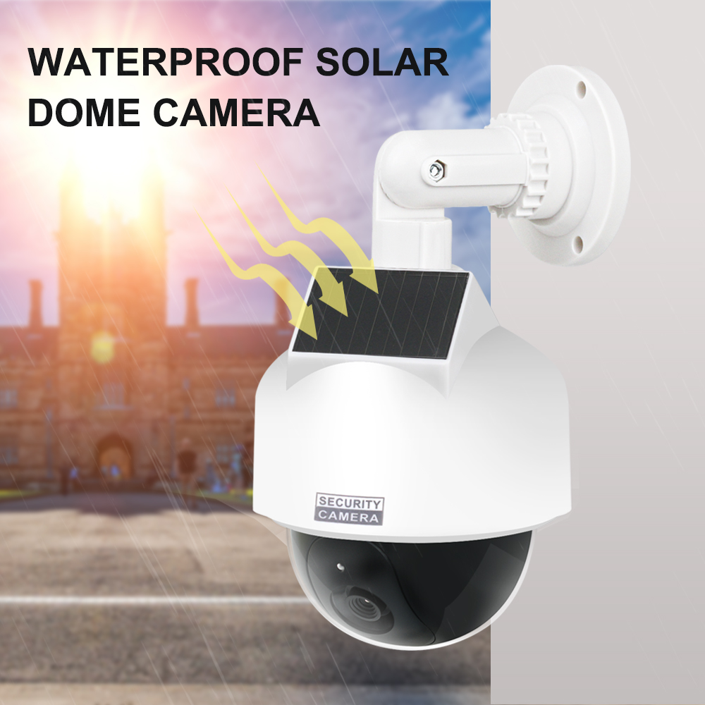 Fake Dummy Outdoor Waterproof Security Surveillance LED Dome Camera