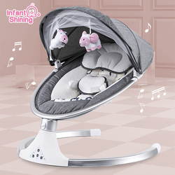 Infant Shining Smart Baby Rocker Electric Baby Cradle Crib Rocking Chair Baby Bouncer Newborn Calm Chair Belt Remote Control