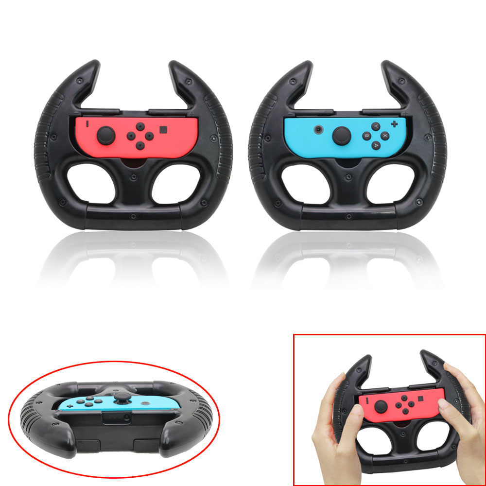 2Pcs Racing Game Steering Wheel Joy-con For Nintend Switch Remote Helm Game Wheels Controls For Nintendo NS Controller Dropship image
