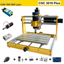 Gloednieuwe 3018 Plus Laser Graveermachine Diy Desktop Laser Graveur 5.5W - 30W Power Met High Power spindel Cnc Hout Routers