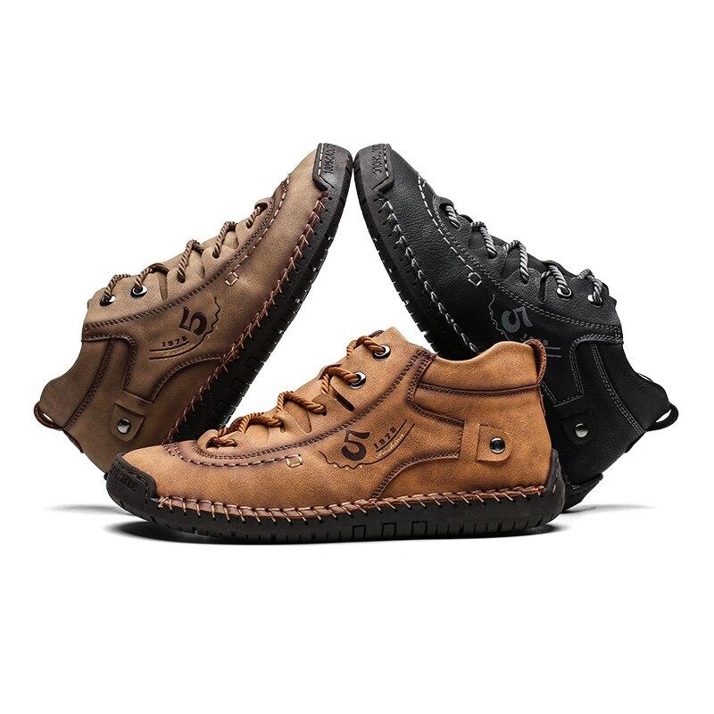 ZUNYU Homens Sapatos Casuais Estilo Britânico Sapatos de Couro Confortáveis Homens Moda Homem Andando Sapatos Tamanho Grande Marrom Preto Macio Calçado Plana 4