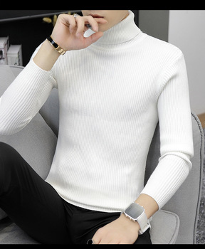 2020 mens autumn and winter turtleneck sweaters pullovers casual solid color knitted fashion men