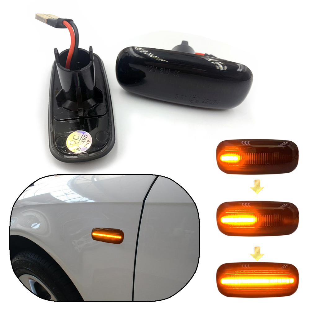 2pcs for <font><b>Audi</b></font> A4 S4 RS4 B6 B7 A3 8P <font><b>A6</b></font> C5 TT A8 C5 Dynamic Side Marker Turn Signal Lights Turn Light Amber Led Blinker image
