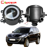 Cawanerl For Peugeot 4007 GP_ 2007 2013 Car 30W COB LED Fog Light Angel Eye Daytime Running Lamp DRL 3000LM 12V Styling 2 Pieces