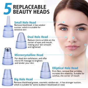 Image 3 - Beauty Blackhead Remover Face Deep Pore Vacuum Acne Cleaner For Remove Pimple Skin Tag Nose Cleansing Instrument Skin Care Tools