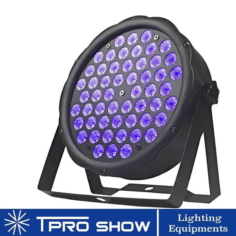 UV Light Sound Party Lights Flat Black Light DMX 512 LED PAR Light Violet Stroboscope Disco Light Effect For Stage Club Home DJ