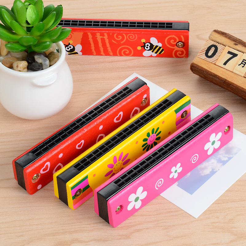 Wooden Harmonica Musical Instruments For Children Baby Music Toys Kids Toy Wooden Educational Toy Musical Instrument Wooden Gift