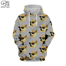 PLstar Cosmos Funny Cartoon Dog Face Animal Art Tracksuit Casual 3D Print Hoodie/Sweatshirt/Jacket/shirts Men Women Harajuku S-2