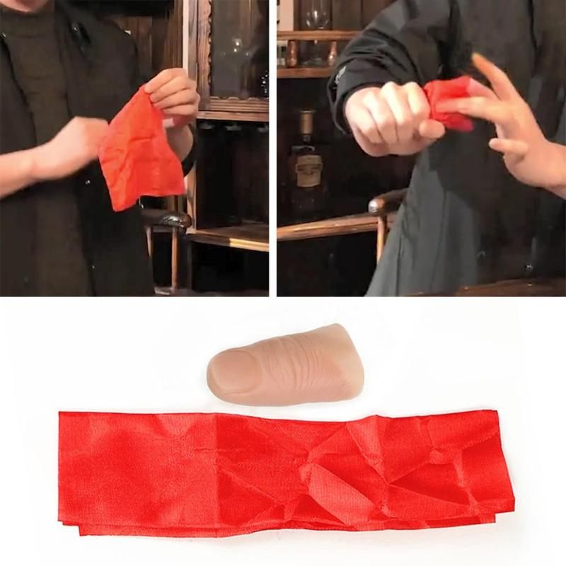 1Pcs Close Up Vanish Appearing Finger Tricks Props Toys Funny Prank Party Favor Fake Soft Thumb Tip Finger Fake Magic Trick