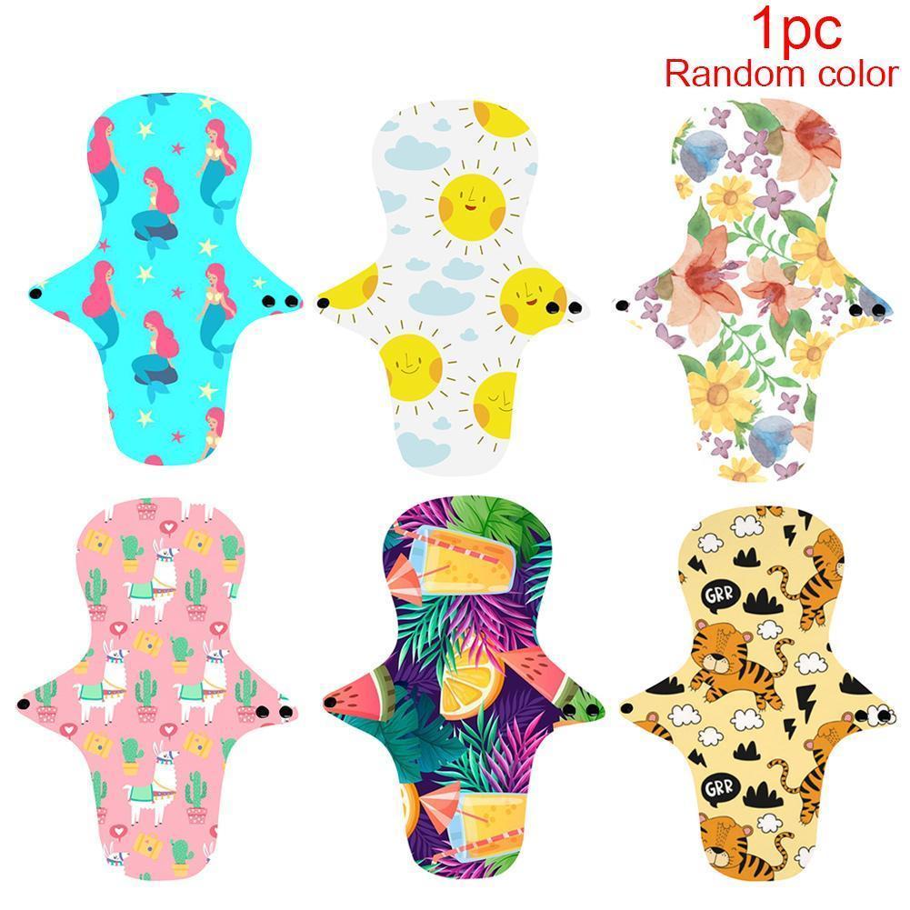 1PC Color Random Menstrual Pads Absorbency Panty Liner Hygienique Mama Sanitary Napkin Sanitary Washable Serviette Z2V0