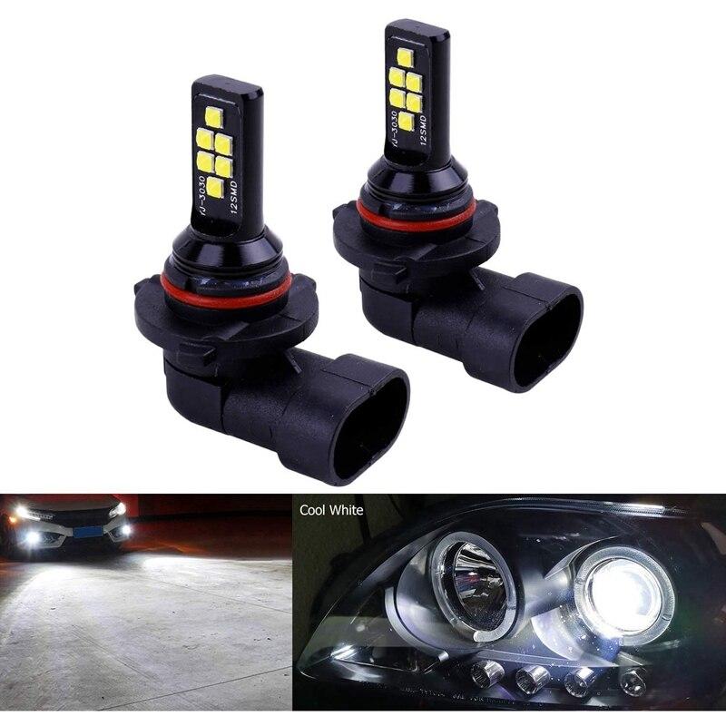 2X HB4 9006 LED Fog Light Bulb Advanced 3030 SMD Daytime Running DRL Lamp, Cool White 6000K