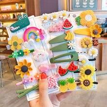 1 Set simpatico cartone animato per bambini fiori e frutta elastico forcine per capelli ragazze regalo carino forcine per bambini scoppi forcine per capelli