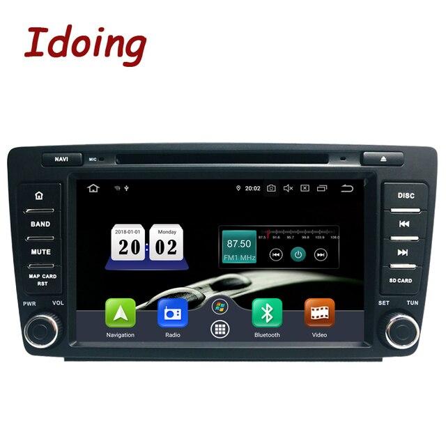 안드로이드 10 4G + 64G 8 코어 2Din 스티어링 휠 Skoda Octavia 2 차량용 멀티미디어 DVD 플레이어 1080P HDP GPS + Glonass 2 Din