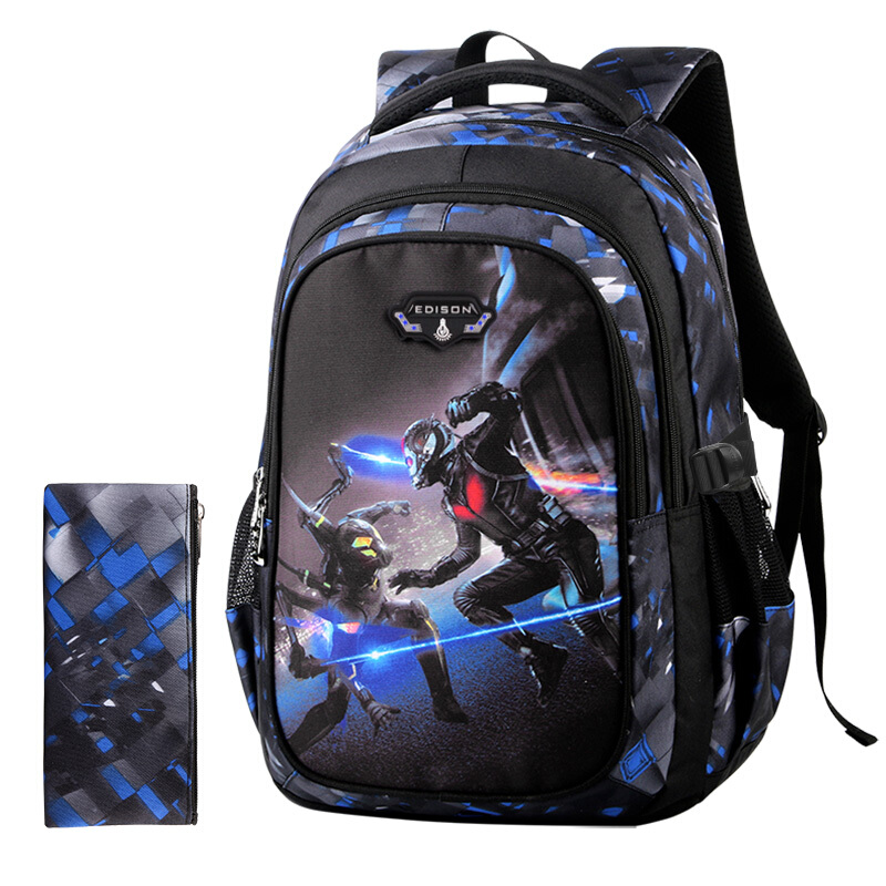 Edison New School Bag Children Backpack Boy Girl School Backpack Miracle Series Cartoon Student Bag 3D Printing Offload Backpack 4