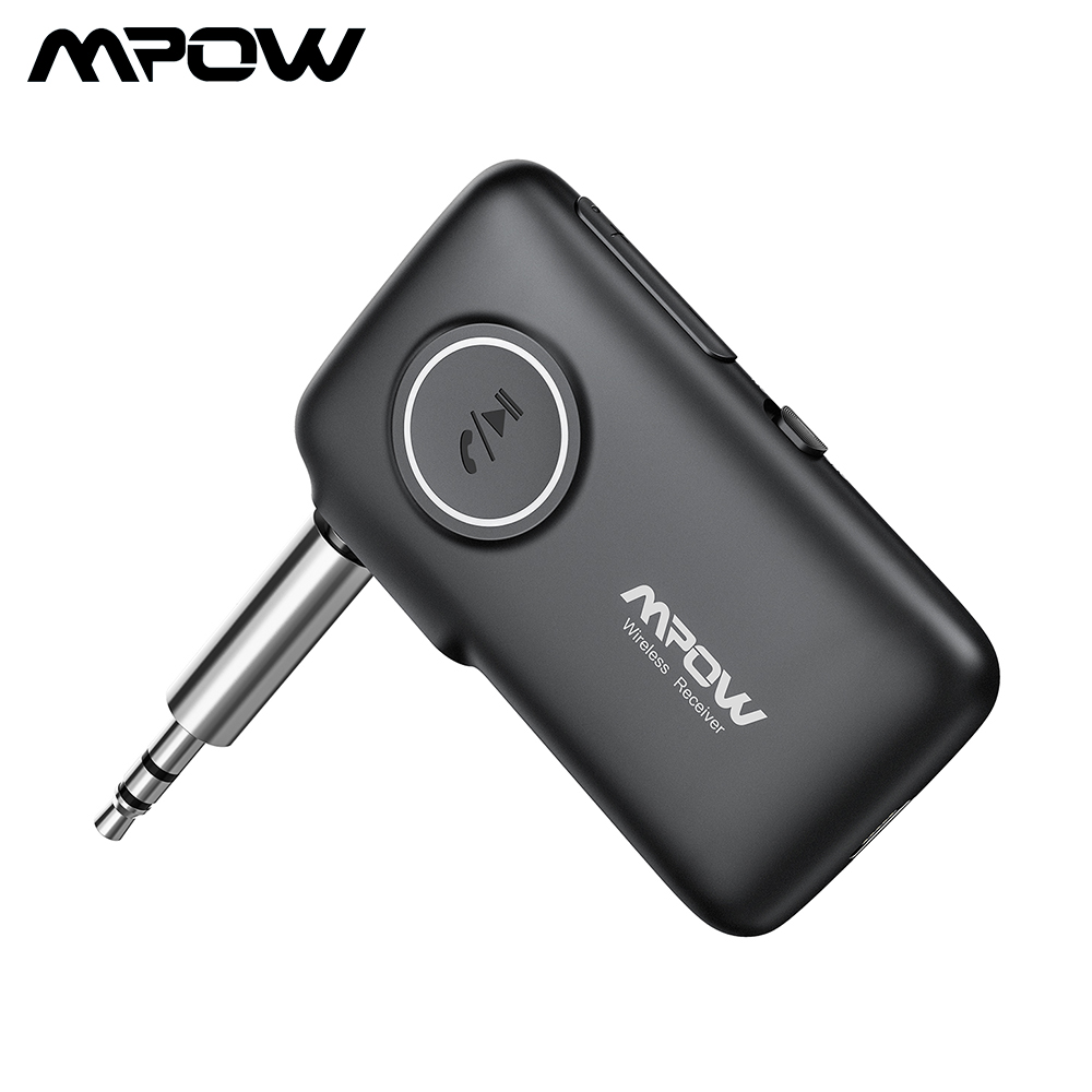 Mpow Wireless Bluetooth 4.1 Receiver Car Kit 3.5mm Stereo Audio Music Adapter US