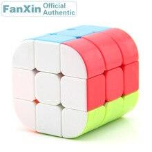 цена на FanXin 3x3x3 Cylinder Magic Cube Column Professional Speed Puzzle Twisty Brain Teaser Antistress Educational Toys For Children