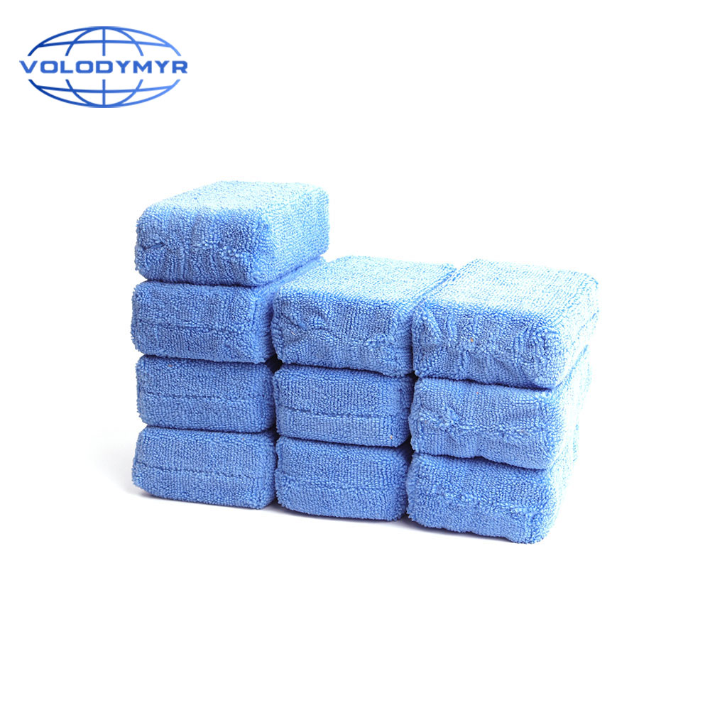 Wax Applicator Sponge Car Blue Soft 10pcs For Detailing Waxing Auto Care Detail Carcleaning Microfiber Pad