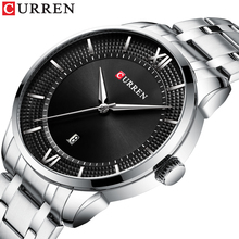 CURREN Top Brand Male Clock Silver Stainless Steel Creative Fashion Mens Watches Date Waterproof Relojes Hombre 2019 Man