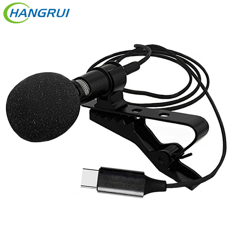 3.5MM Metal Microphone Jack Lavalier Tie Clip Microphone Mini Audio Mic For Huawei TYPE C Audio Interface Computer Laptop Phone