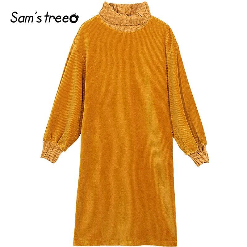 SAM'S TREE Black Pure Turtleneck Knit Minimalist Straight