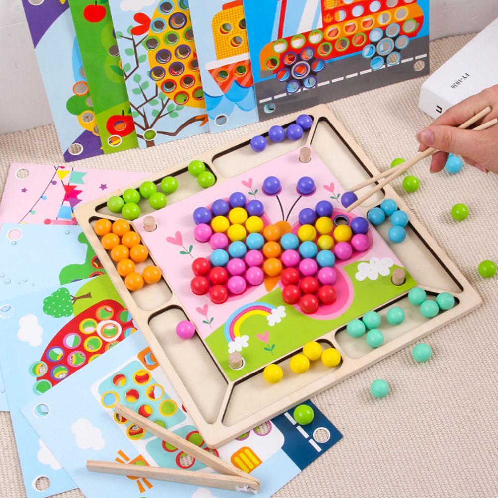 93-pieces-bebe-montessori-baguettes-en-bois-clips-perles-couleur-correspondant-perle-puzzle-conseil-mathematiques-comptage-mains-cerveau-formation-jeu-jouet
