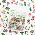 100 шт./упак. зеленые растения и цветы дневник тетрадь альбом для декоративных наклеек