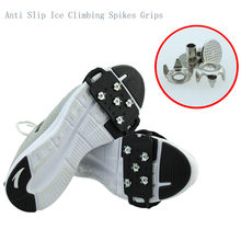 2019 Hot Snow Snow Ice Climbing Anti Slip Spikes Grips Crampon Cleats 5-Stud Shoes Cover Sports safety(China)