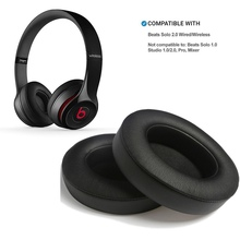 1 Pair Ear pads Memory Foam Cover Protein Leather Cushion Earpads for Beats Solo 2.0 Wireless/Wired Headphone