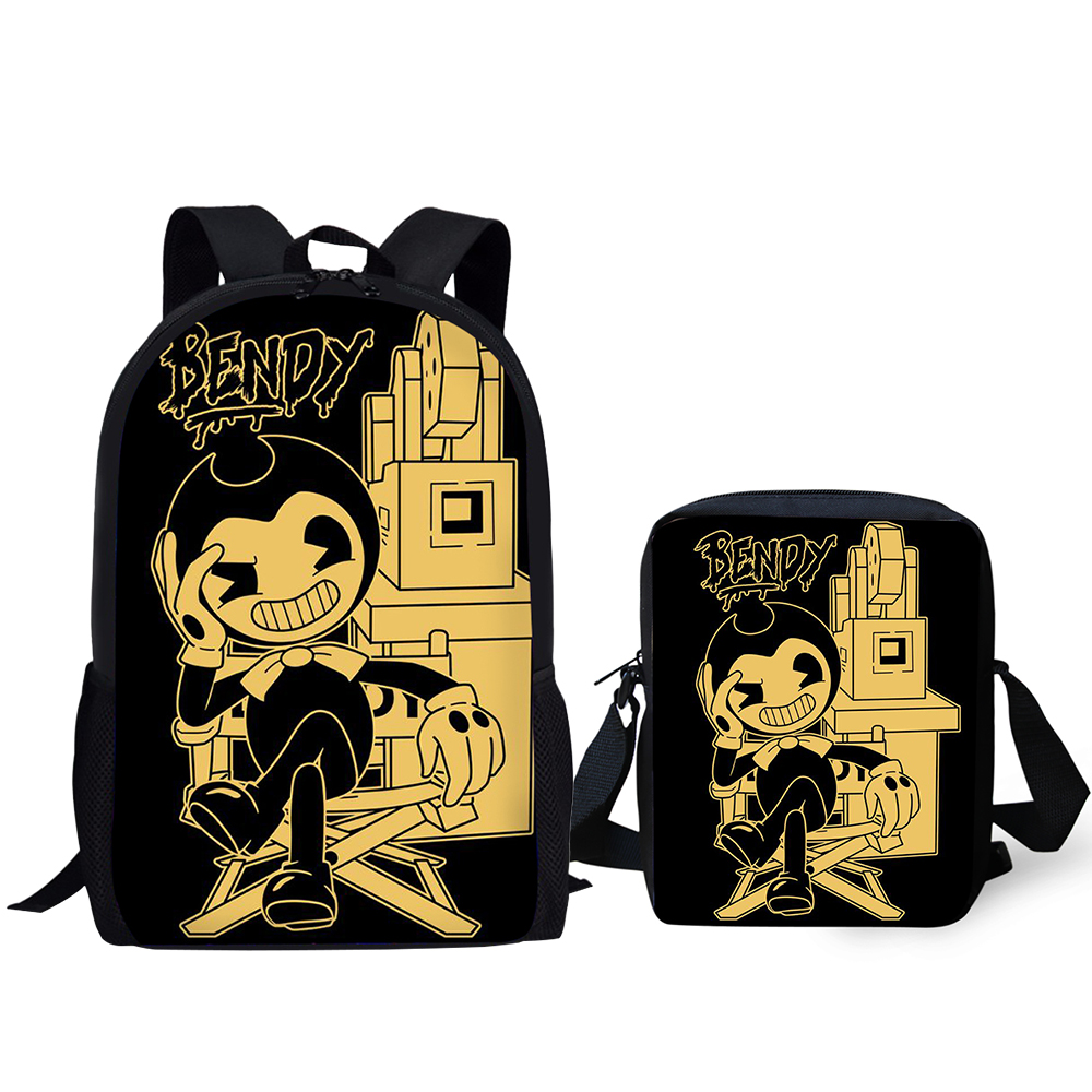 HaoYun 2PCs Set Children 39 s Fashion Backpack Bendy and the Ink Machine Kids School Bags Cartoon Teens Shoulder Book Bags Mochila in School Bags from Luggage amp Bags