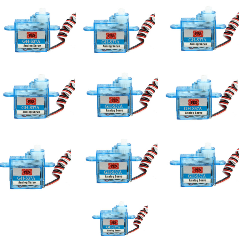 10PCS 3.7g Micro Analog Servo GH-S37A RC Micro Servo for RC Model Truck Boat Racing Car Helicopter Airplane and Robot
