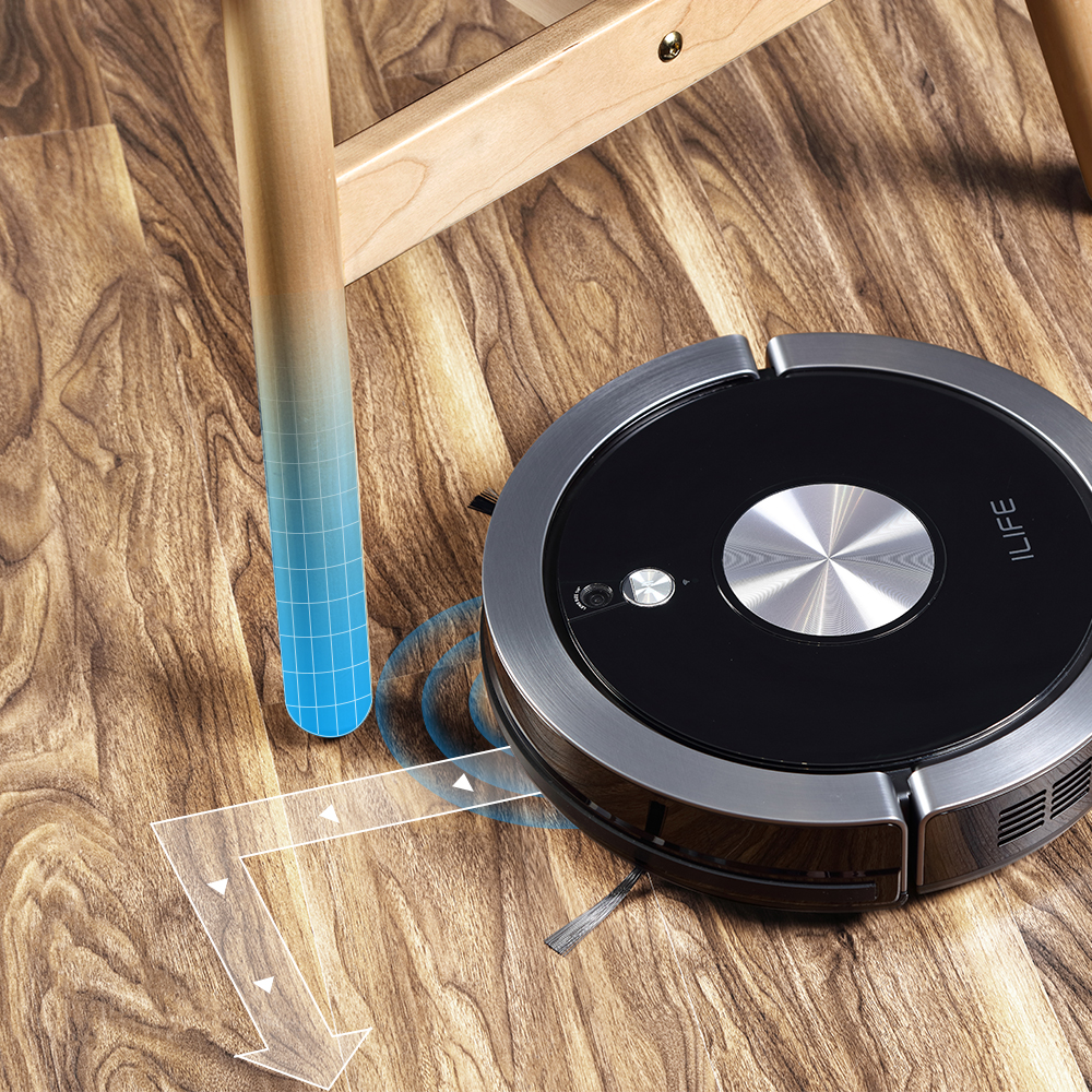ILIFE A9s Robot Vacuum Cleaner Vacuuming & Wet Mopping Smart APP Remote Control Camera Navigation Planned Cleaning Large Dustbin 5