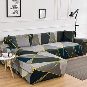 Sofa-Covers Lounge Corner Elasticity L-Shaped Stretchable Tightly Geometric