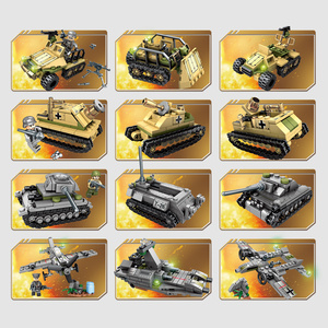 Image 5 - Sembo Building Blocks 1061pcs Military Series Helicopter ww2 Figures Weapon Gun Soldiers Tank Educational Toys for Children Gift