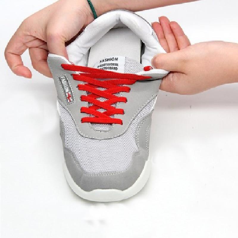 1 Pair 100cm No Tie Shoelaces Sneaker Lazy Shoe Laces Stretching Locking Elastic Shoelaces Bootlaces Sport  Athletic Shoe String