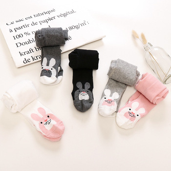 Baby Autumn Winter Tights Baby Toddler Kid Girl Stockings Cotton Warm Pantyhose Solid Cartoon Newborn Tight Infant Pantyhose 1