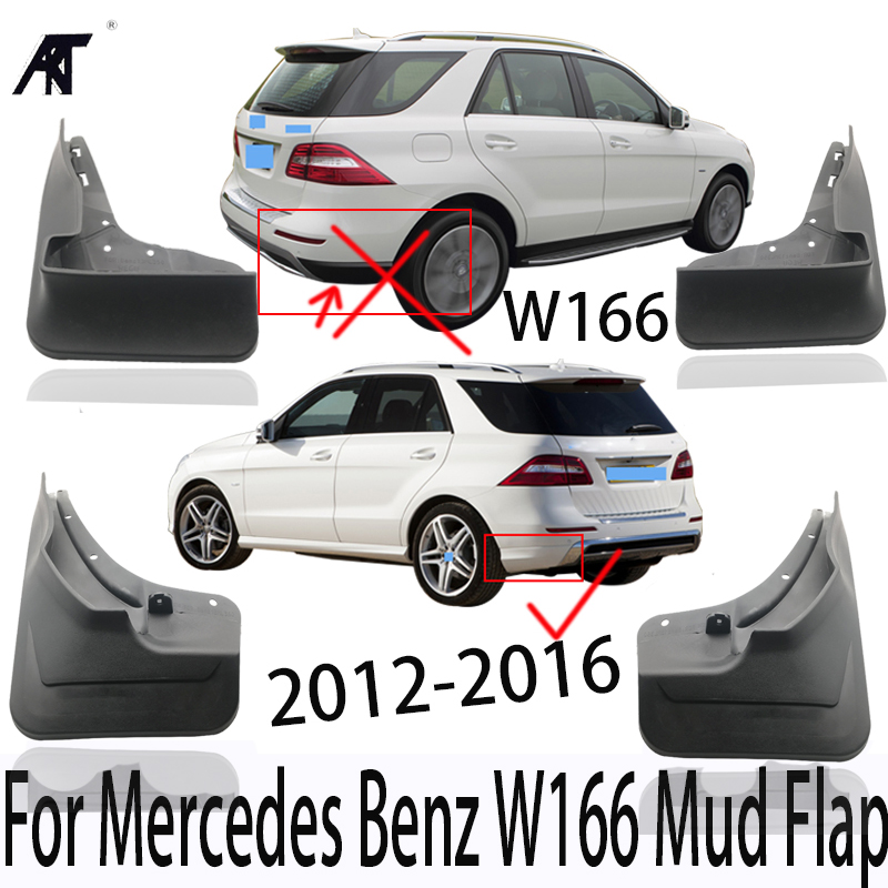 Mud Flap For Mercedes Benz <font><b>W166</b></font> Guard Mup Fender Front Rear Molded Splash Mudguard ML350 ML400 <font><b>ML</b></font> <font><b>350</b></font> 400 2012-2016 image