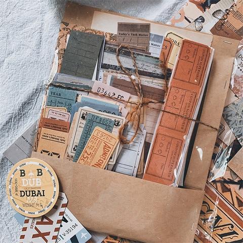 217 pcs bilhete de viagem do vintage adesivos decorativos diario planejador adesivo etiqueta album de