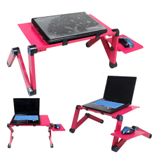 Laptop-Stand Lapdesk Foldable Computer with Cooling-Fan for Bed Sofa New 42x26cm