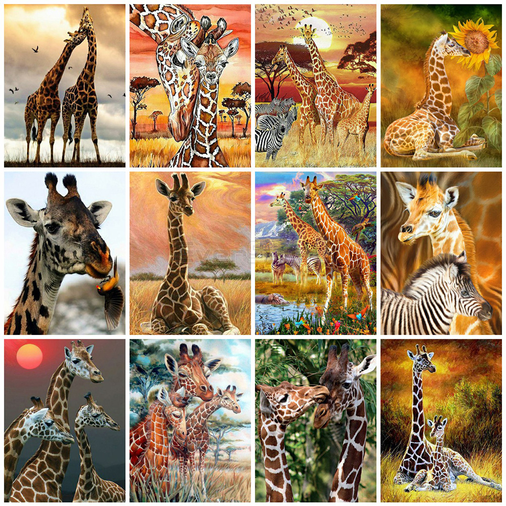 EverShine Diamond Painting Full Drill Square Giraffe Cross Stitch Diamond Embroidery Sale Animals Handicraft Art Wall Decor image