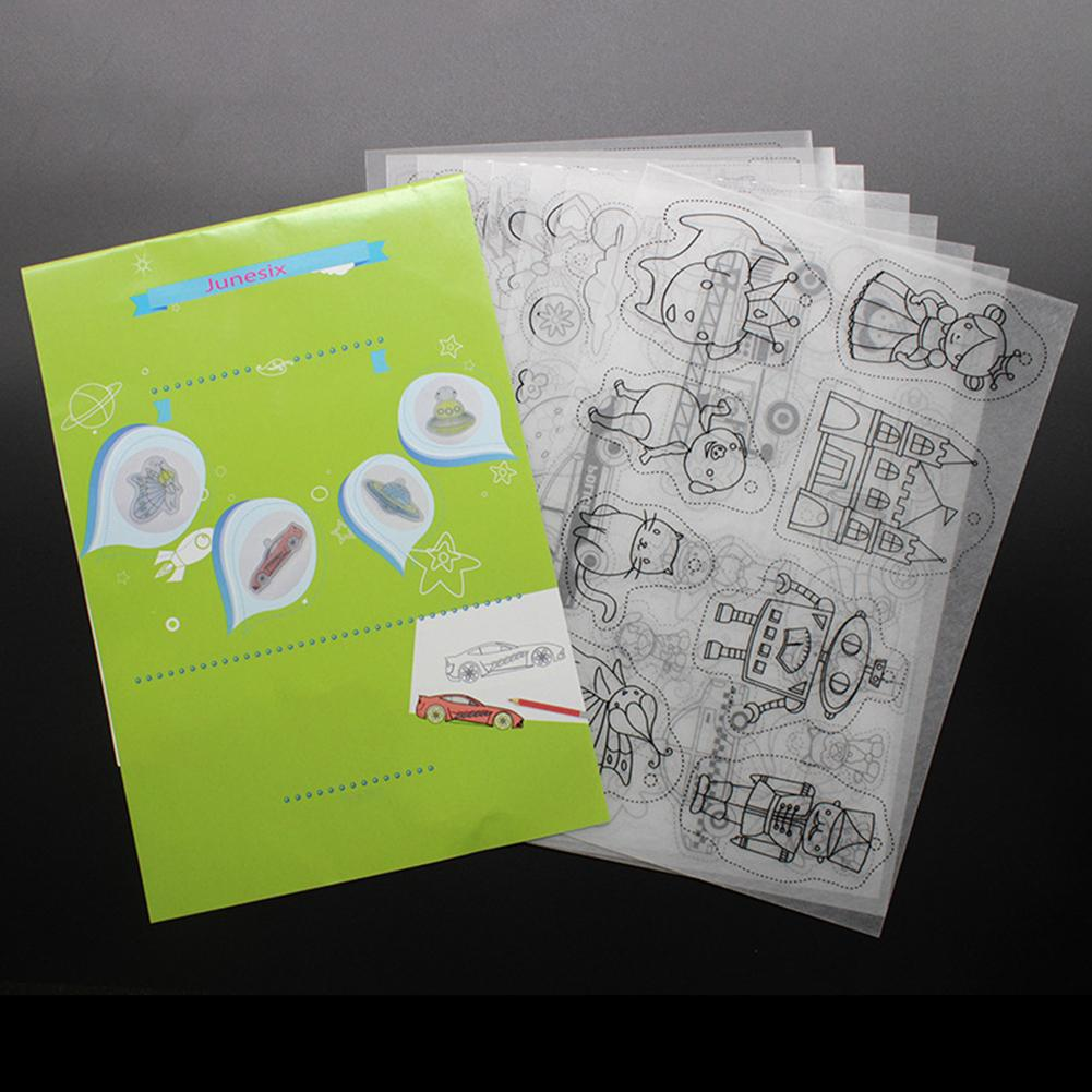 Heat Shrink Film Shrinky Art Paper Film Sheets With Pattern For Kids Creative Craft Keychains