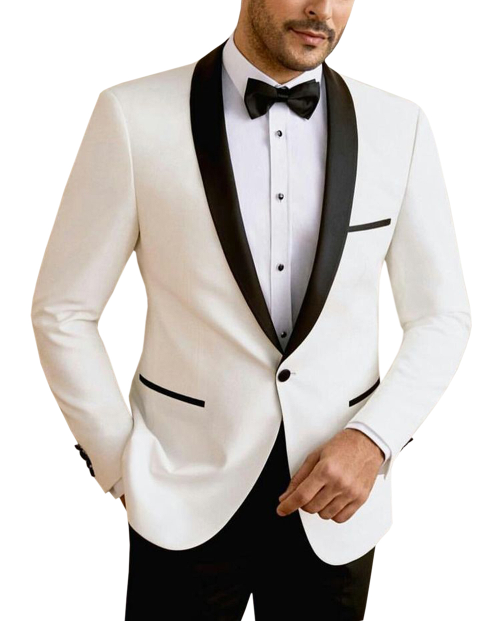 Solovedress Mens Suit Premium Prom Wedding Tuxedos 2 Piece Blazer & Trousers Modern Slim Fit Jacket Vest Trousers Dinner Wedding