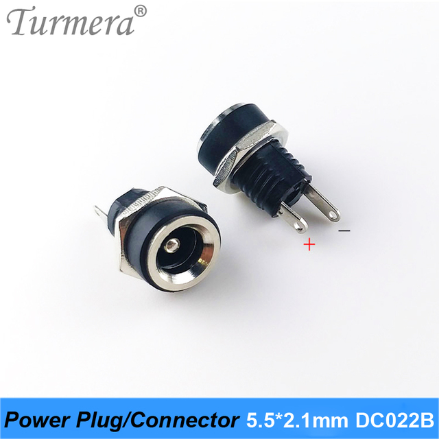 DC Power plug connector for diy dc waterproof jack connector DC022B 5.5 X 2.1 mm 5pieces/lot 5