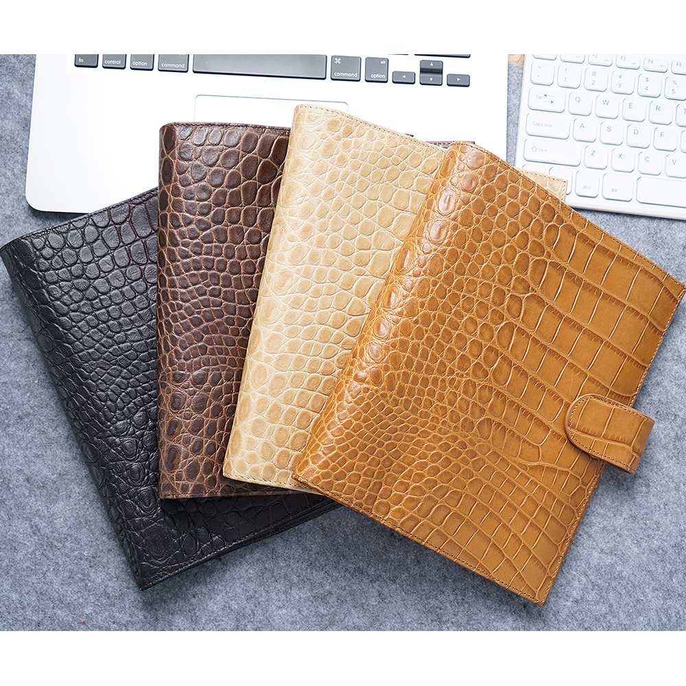 Genuine Leather Rings Notebook A5 Agenda Organizer Cowhide Diary Journal Sketchbook Planner Business Office School Stationery