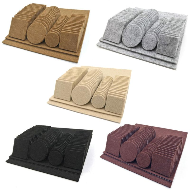 80/130pcs Furniture Chair Table Leg Self Adhesive Felt Wood Floor Protector Pads 37MD
